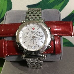 Michele Accessories - Michele Caber watch with a box and an extra band